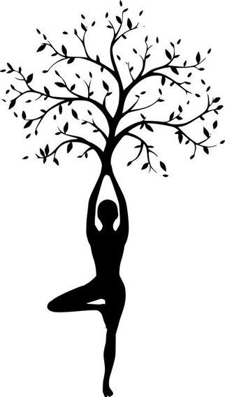 Vinilo Relajacion Yoga Arbo De Meditación Gym 60 X100 Cm