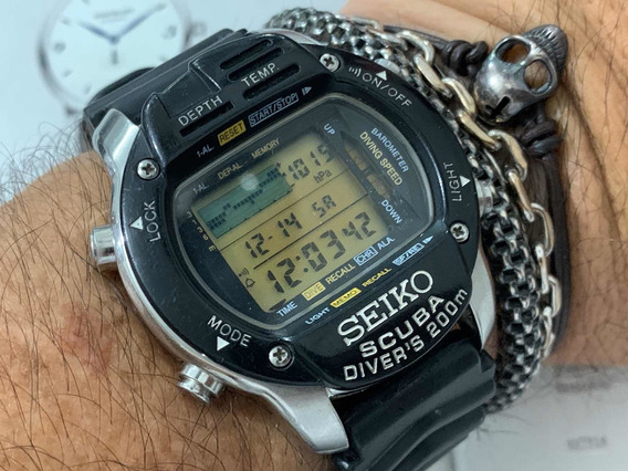Seiko Cal M796 Scuba Divers 200m Japan Digital Vintage Raro