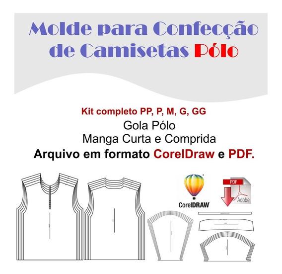Molde Camiseta Pólo Unissex, Pdf, Corel Draw