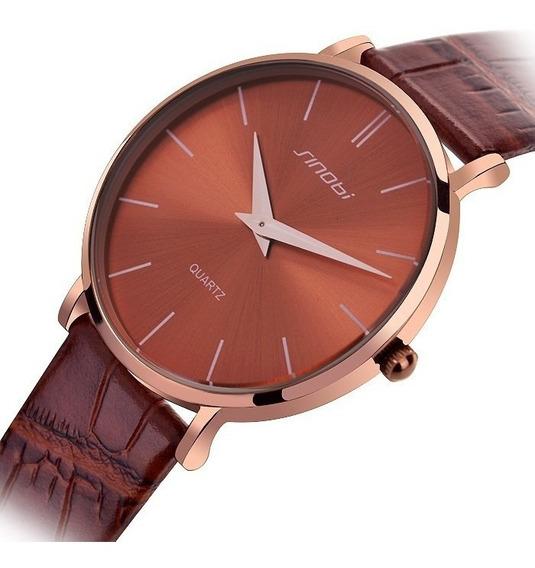 Relógio Masculino Especial Slim Pulseira Em Couro Sinobi