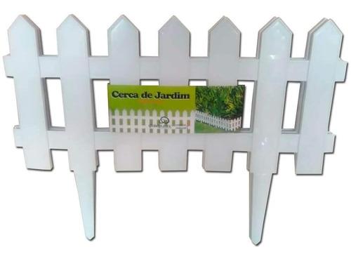 Cerca Decorativa Para Jardim De Plastico Branco Com 3 Pecas