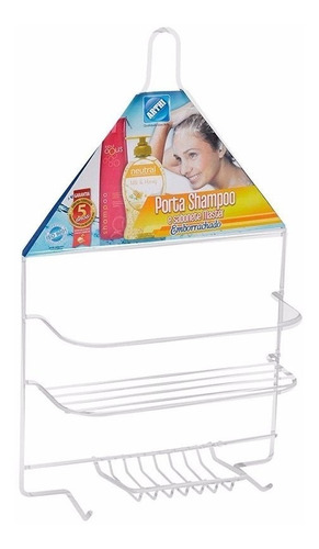 Suporte Porta Sabonete Shampoo Box Pendurar Registro Arthi