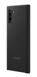 Capa Protetora De Silicone Preta Samsung Note 10