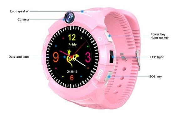 Relógio G P S Infantil Alarme Rastrea Localiza Anti-pe S O S