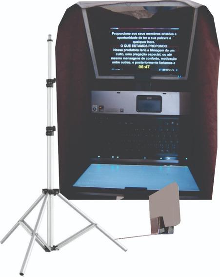Teleprompter Notebook C/ Tripé + Adaptador Celular