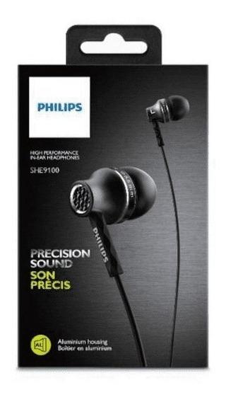 Fone De Ouvido Philips Intra-auricular She9100 Preto