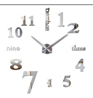Reloj De Pared 3d Gigante