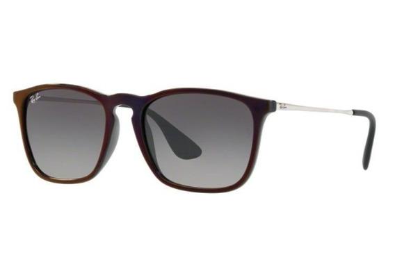 Oculos Sol Ray Ban Chris Rb4187 631611 54mm Preto Vermelho