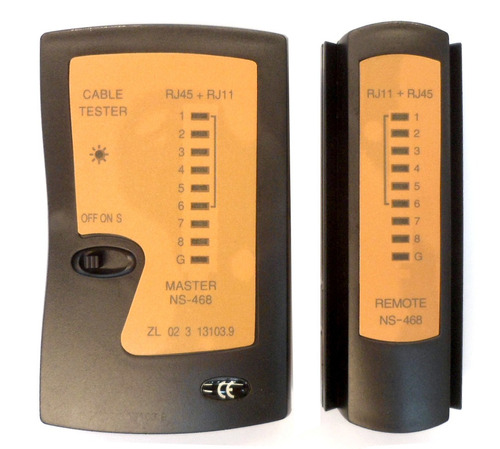 Tester De Red Y Telefonia Rj11 Rj45 Con 2 Velocidades E5523