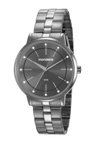 Relógio Feminino Mondaine 53749lpmvse3 40mm Aço Grafite