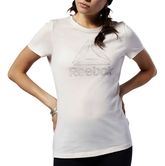 Remera Reebok Training Graphic Series Traced Delta Mujer Rs