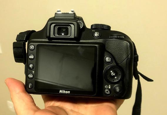 Câmera Nikon D3400 Com Lente 18-55 - Semi-nova