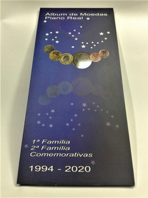 Album Moedas Do Real 1994 2020 1° E 2° Familia