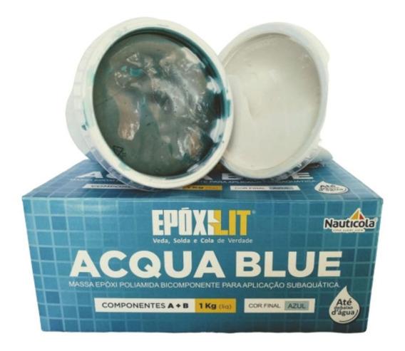 Cola P/ Piscina Epóxilit Acqua Blue Massa Subaquática A+b 1k