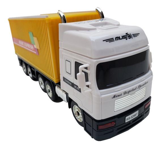 Caixa De Som Bluetooth Modelo Caminhão - Carreta -usb/fm/tf