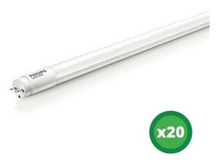 Pack X20 Lampara Tubo Led Ecofit Philips 8w = 18w T8