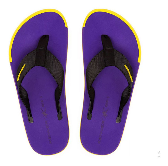 Chinelo Sandália Kenner Kick.s Roxo / Preto / Amarelo