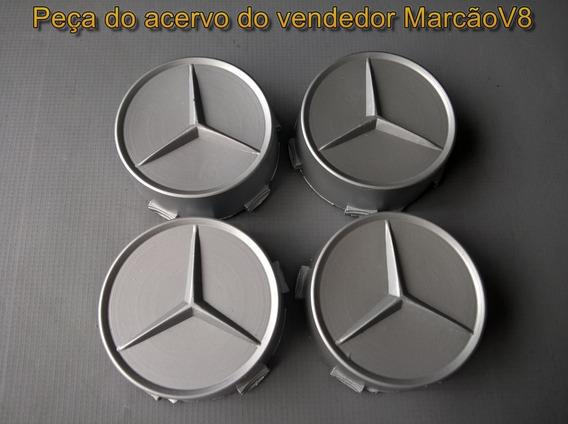 Jogo Calotinhas Centro De Roda Cor Cinza Mercedes Sprinter