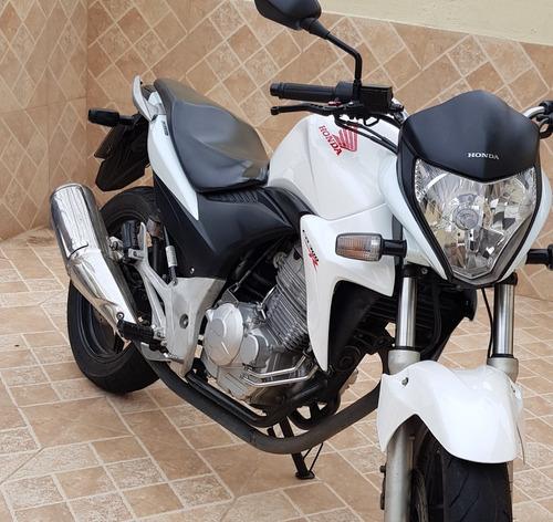 Imagem 1 de 10 de Honda Cb 300r 2014 Flex Branca Perola Manual E Chave Reserva
