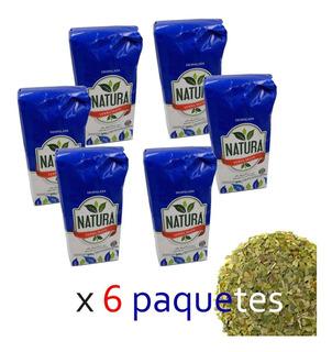 Yerba Mate Natura 6 U X 1/2 Kg Despalada Misiones Por Mayor