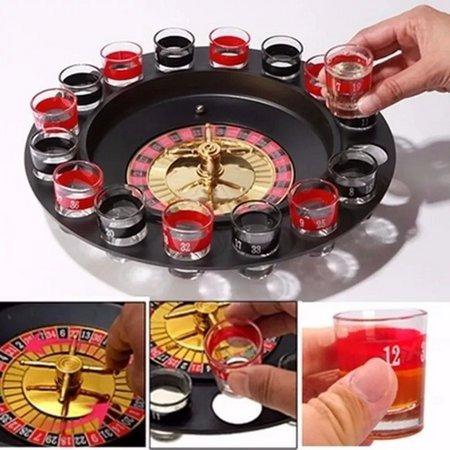 Jogo Cassino Roleta Drink Destilado Tequila Shot C/ 16 Copos