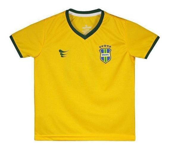 Camisa Super Bolla Brasil Torcedor 2018 N° 10 Infantil