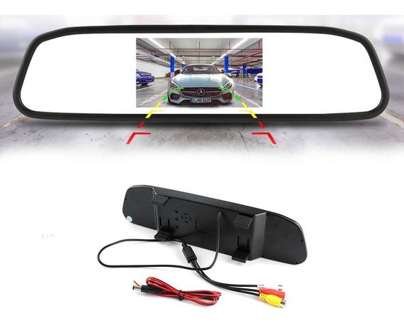 Retrovisor Monitor Lcd Tft 4.3 Automotivo P Camera De Ré V20
