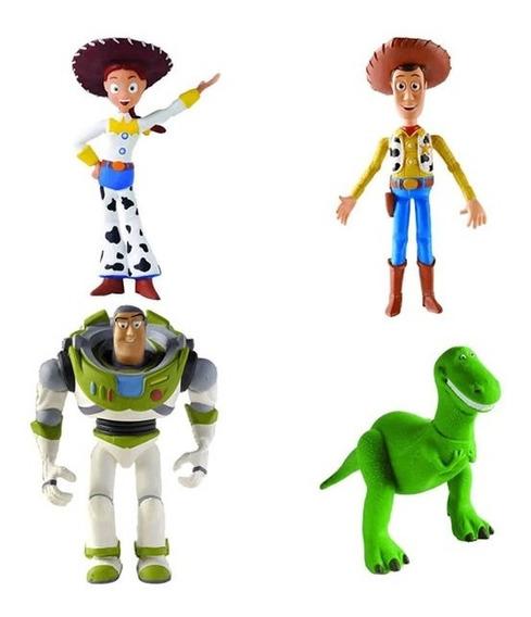 Kit 4 Bonecos Látex Toy Story 3 - Latoy