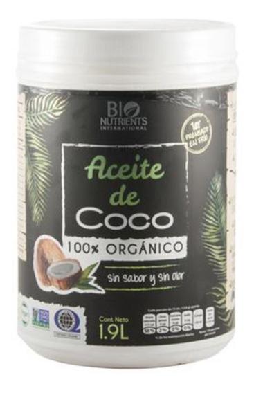 Aceite De Coco Orgánico Sin Sabor Y Sin Olor 1.9litros Se