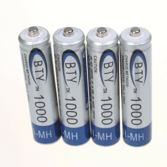 Pilas Baterias Recargables Aaa Bty 1000mah 1.2v 2 Unidades