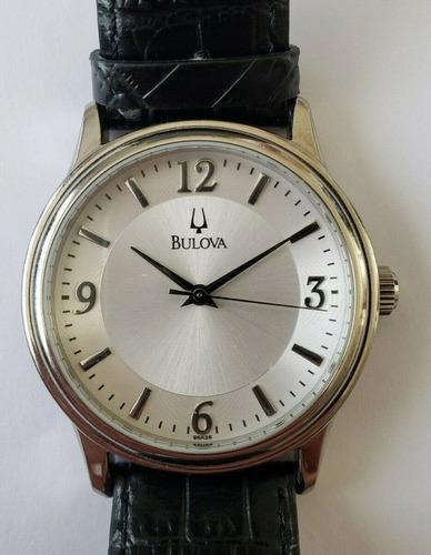 Relógio Bulova Couro B3 C8337041