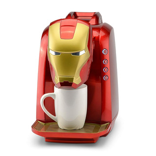 Cafetera Marvel De Iron Man Color Rojo Y Dorado Café