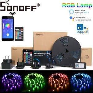 Sonoff L1 Wifi Fita De Led Rgb 5m - Alexa E Google Home
