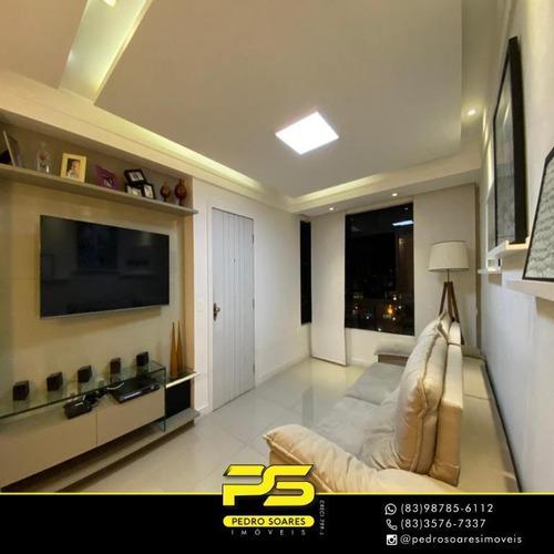 Apartamento Com 3 Dormitórios À Venda, 118 M² Por R$ 460.000 - Manaíra - João Pessoa/pb - Ap3396