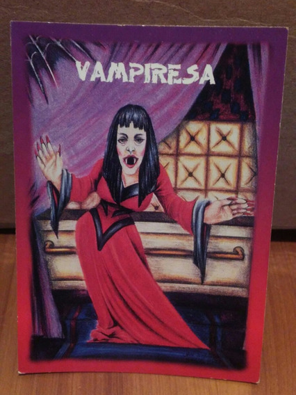 Tarjeta Vampiresa Monstruos De Bolsillo Sonrics Vintage 1994