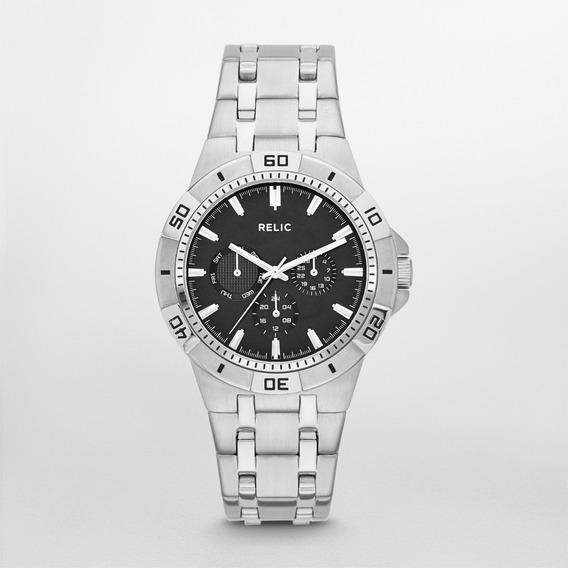 Reloj Caballero Relic Garret Zr15709 Color Plateado