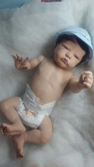 Bebê Reborn Corpinho Inteiro Em Silicone Vinil