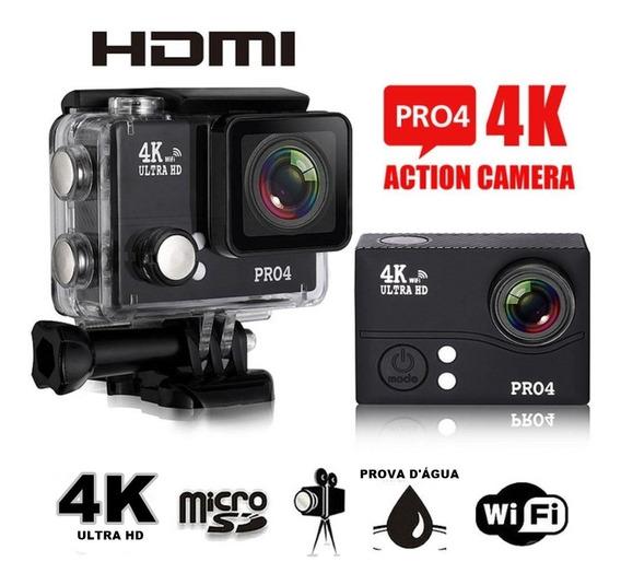 Câmera Esporte Pro4 Ultra Hd 4k 14mp Com Wifi E Controle