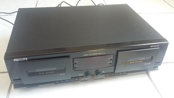 Tape Deck Philips Fc731 Toca Fita K7 Cassete Importado Duplo