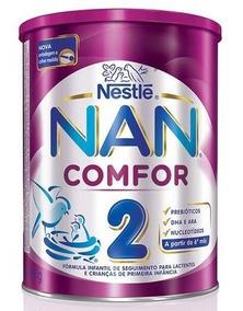 Kit Com 4 Latas Leite Nan Comfor 2 Nestlé 800g