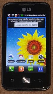 Celular Lg-e510 Android 2.3.6 Com Defeito Ci Carga Bateria