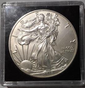 Moeda Liberty Silver 2017 + Case Moedas Proof 1971
