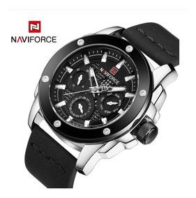 Relógio Naviforce Couro 9116 Promoção Primeiras Vendas