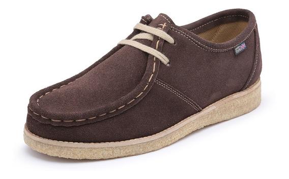 Sapato London Style Couro Camurça Alta Qualidade Retrô