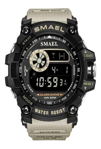 Relógio Militar Smael 8010 (bege)