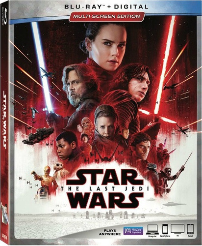 Star Wars: Los Ultimos Jedi En Blu-ray Original