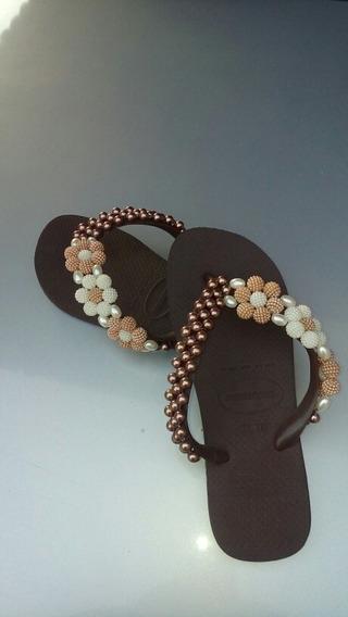 Sandálias Havaianas Bordadas