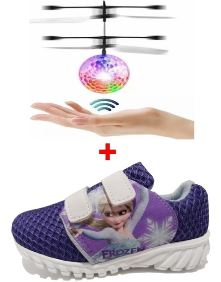Tênis Infantil Feminino Masculino Com Drone De Led Recarregavel