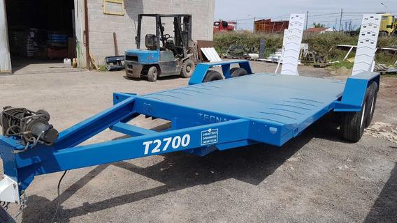 Trailers Auxilio Tecnar Mod Taux2700 P/ 2,7 Ton Patentable