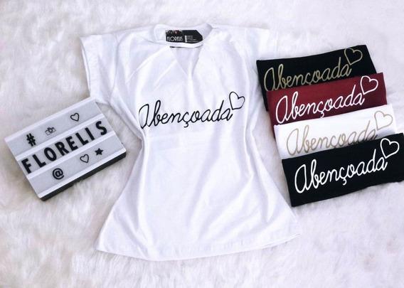 Kit Com 8 Camisetas Blusa T-shirt Feminina Atacado